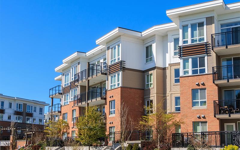 A set of modern condominium units in Kansas City