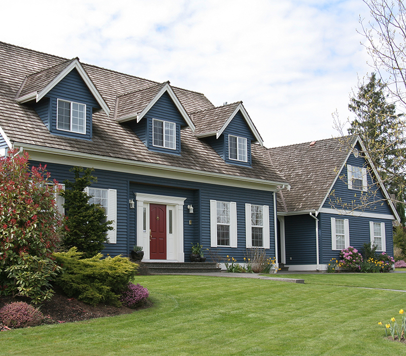 Large suburban home purchased with a conventional mortgage